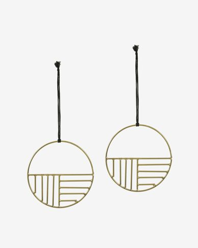Xanthe circular hanging ornament pack