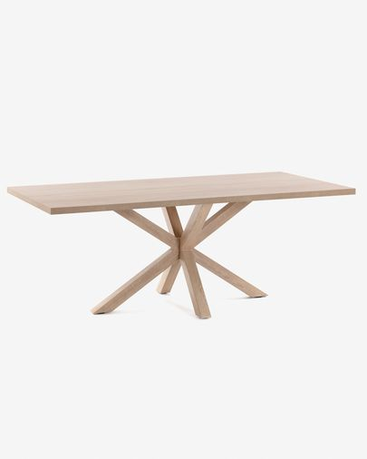 Argo table 160 cm natural melamine wood effect legs