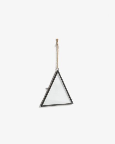 Hanging photo frame Delphine black, 15x14cm