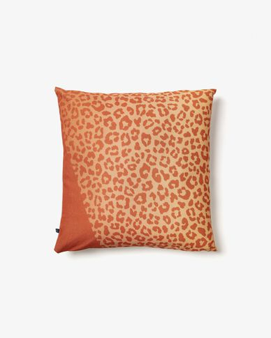 Cushion cover Libbie leopard orange