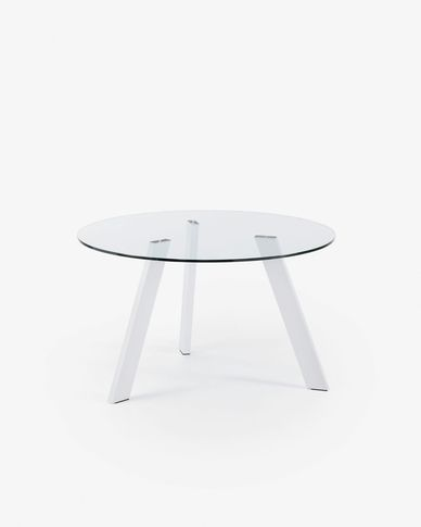 Carib table Ø 130 cm neutral and white