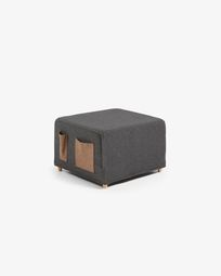 Kos graphite pouf bed cover