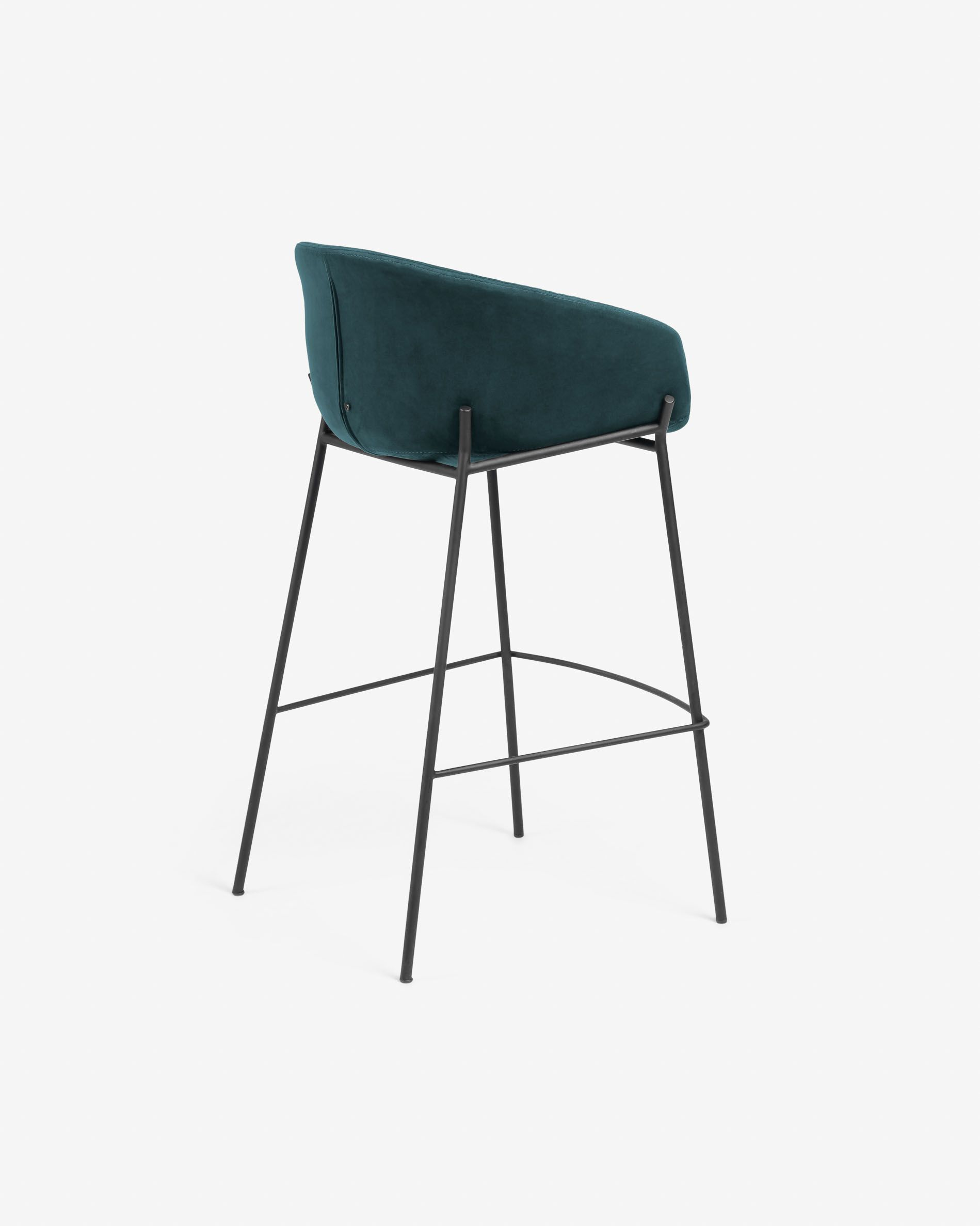 Miraculous Turquoise Velvet Yvette Barstool Height 74 Cm Kave Home Caraccident5 Cool Chair Designs And Ideas Caraccident5Info