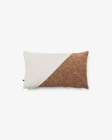 Myla cushion cover 30 x 50 cm cork and beige