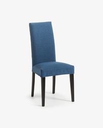 Freda chair dark blue and black
