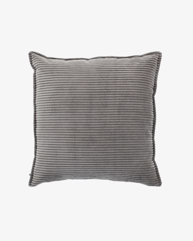 Grey corduroy Wilma cushion cover 60 x 60 cm