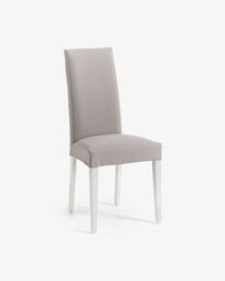 Freda Bulova light grey and white chair