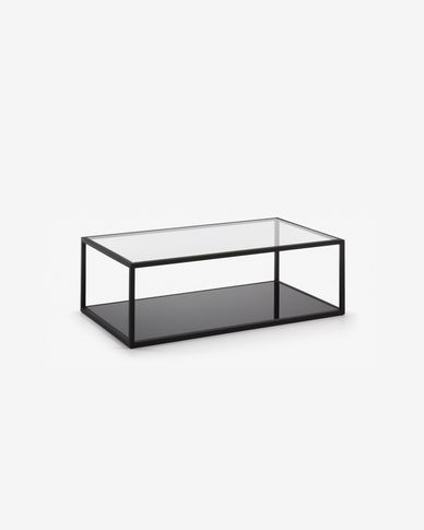 Table basse rectangulaire Blackhill 110 x 60 cm noir