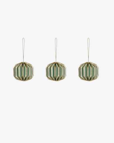 Wendy green bauble set
