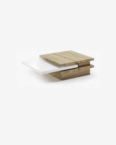 Kiu coffee table 70 (106) x 70 cm MDF and melamine