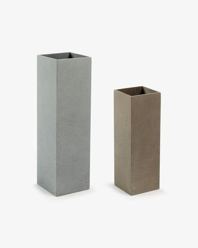 Marta set of 2 vases prism