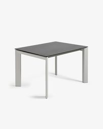 Extendable table Axis 120 (180) cm porcelain Vulcano Roca finish gray legs