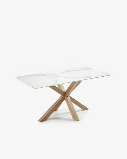 Argo table 160 cm porcelain wooden effect legs