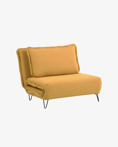 Miski mustard yellow sofa bed 105 cm
