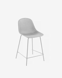 White Quinby stool height 65 cm