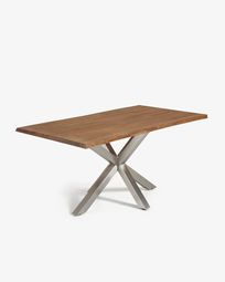 Argo table 180 cm antique oak matt stainless steel legs