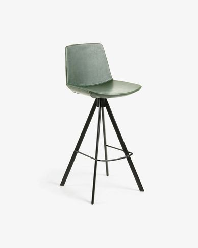 Green Zeva barstool height 75 cm