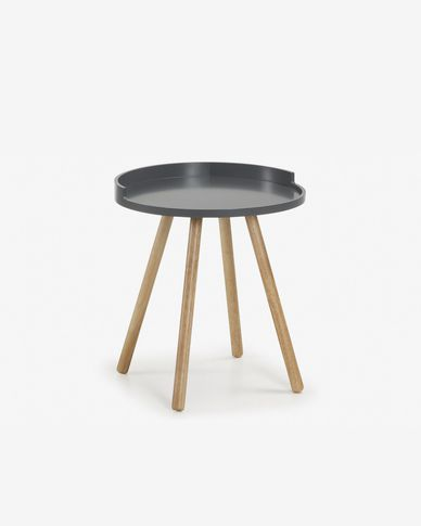 Grey Kurb side table Ø 46 cm