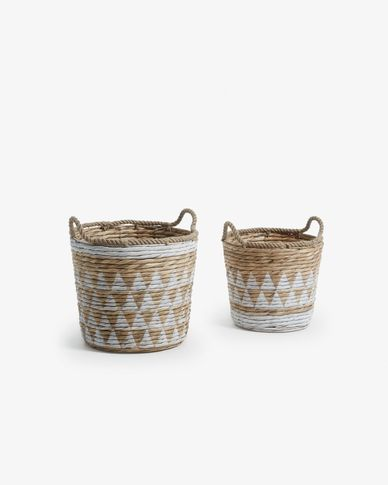 Mast set of 2 baskets white
