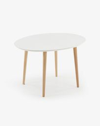 Oqui extendable table 120 (200) x 90 cm white