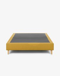 Bed base high Nikos 160 x 200 cm mustard