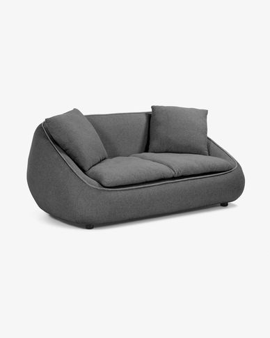 Dark grey 2-seater Safira sofa 160 cm