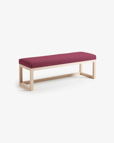 Burgundy Loya bench
