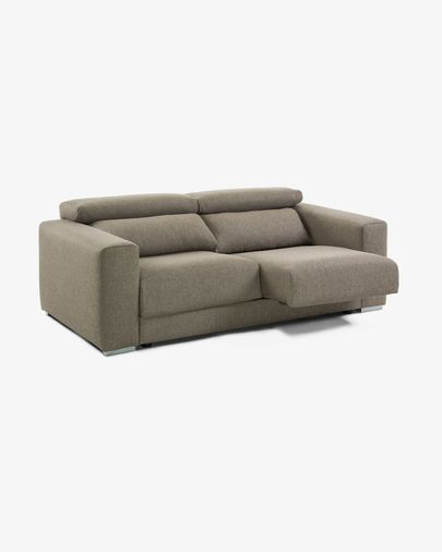 Brown 3-seater Atlanta sofa 210 cm