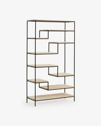 Push shelving unit 100 x 180 cm black