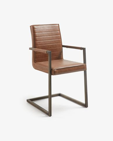 Oxid brown Tusk armchair