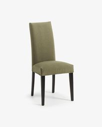 Freda chair green and black