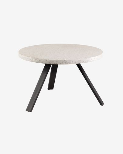 Shanelle white table Ø 120 cm