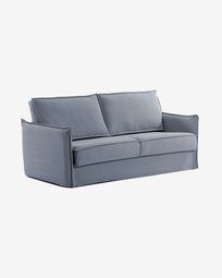 Samsa Bettsofa 140 cm visco blau