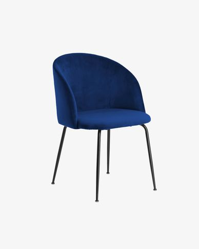 Chair Ludelina blue velvet