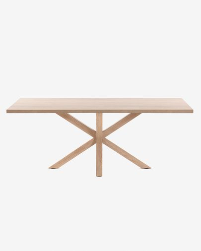 Argo table 200 cm natural melamine wood effect legs
