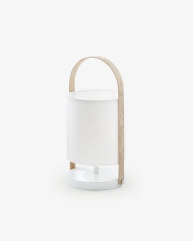 Lampe de table Zayma blanc