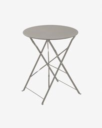 Table ronde Alrick Ø 60 cm gris mat