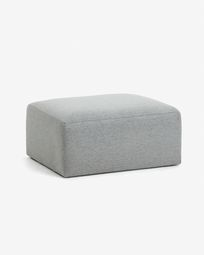 Light grey Blok pouf 90 x 70 cm