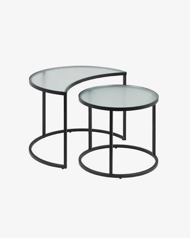 Bast set of 2 side tables