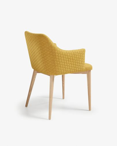 Croft armchair mustard natural finish
