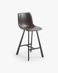 Dark brown Trap barstool height 61 cm