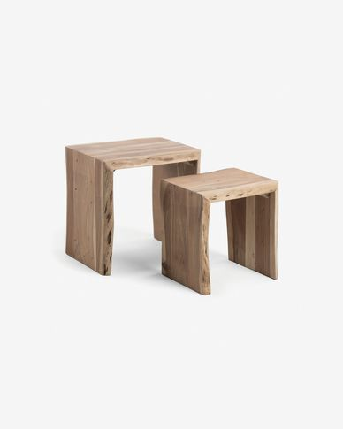Set Zuleika de 2 tables gigogne