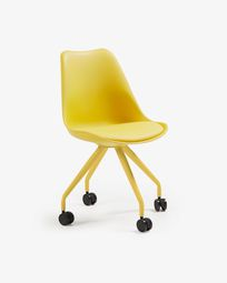 Ralf desk chair yellow