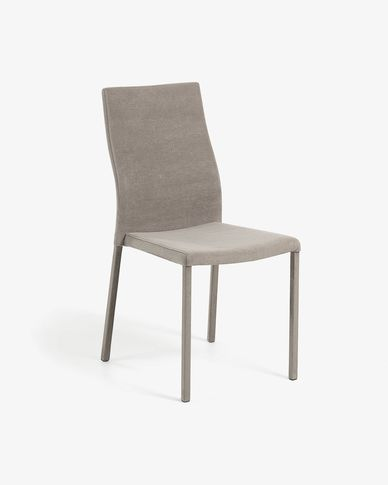 Grey fabric Abelle chair
