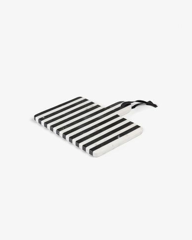 Bergman rectangular cutting board black and white marble