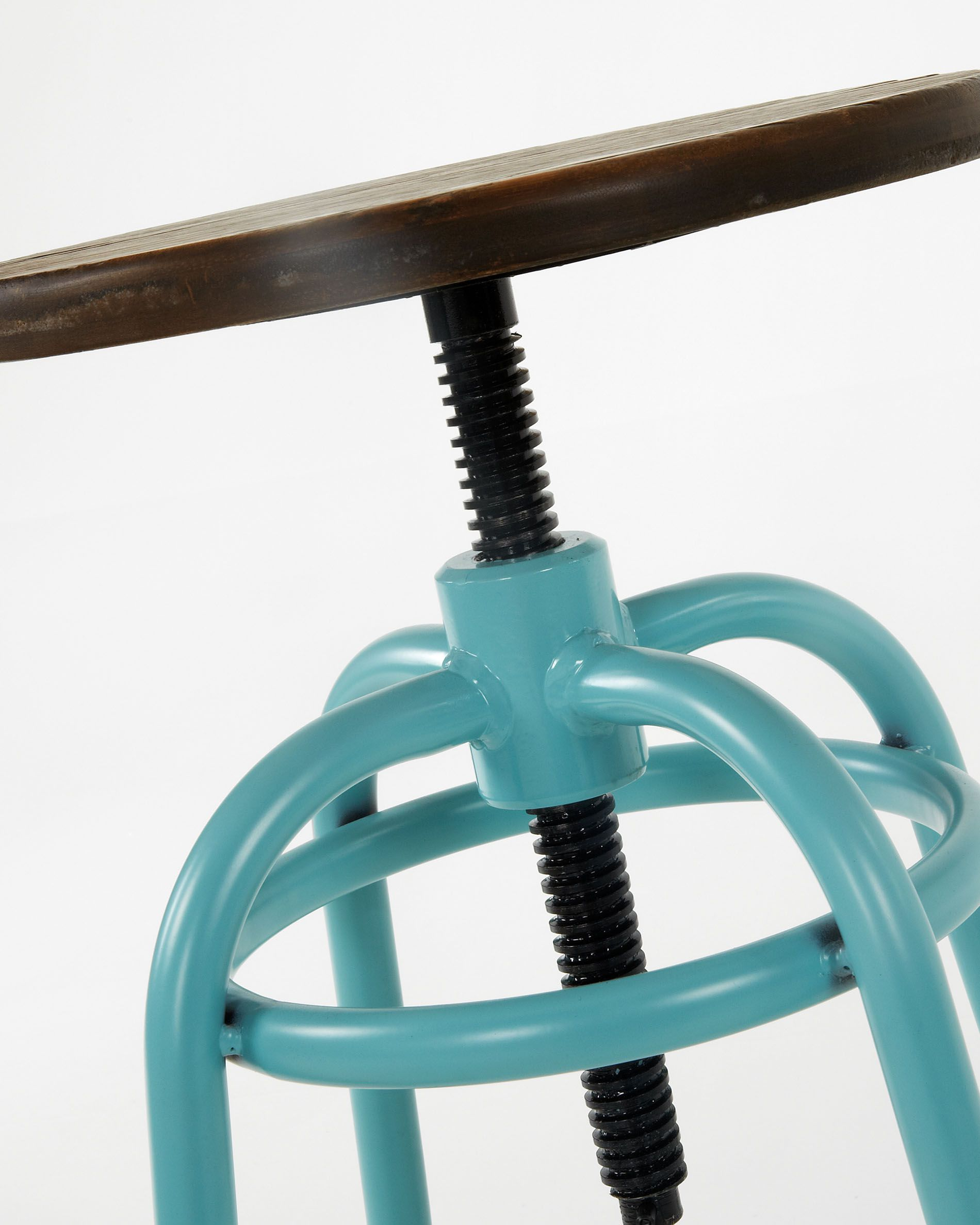 Enjoyable Turquoise Malira Barstool Height 66 84 Cm Kave Home Caraccident5 Cool Chair Designs And Ideas Caraccident5Info