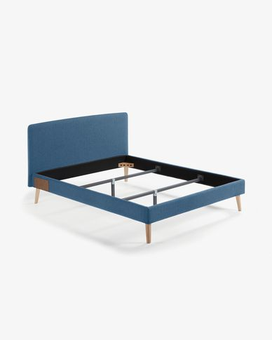 Dyla bed 160 x 200 cm donkerblauw