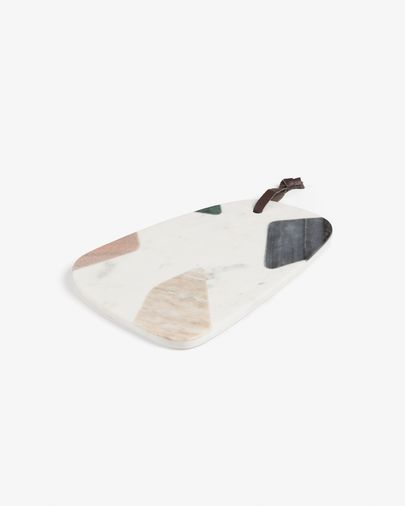 Bergman triangular cutting board multicolor marble