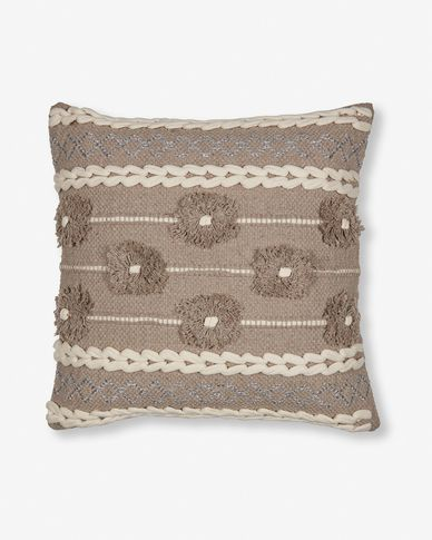 Brown Leander cushion cover