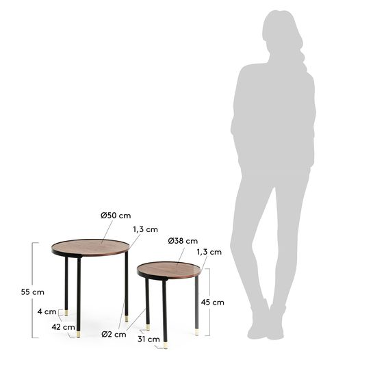 Anabel side table - sizes